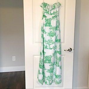 Lilly Pulitzer Darleena Strapless Maxi Dress, XS